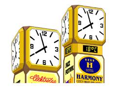 Otočné reklamní hodiny řady RSO