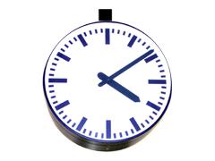 Exteriérové hodiny ručičkové